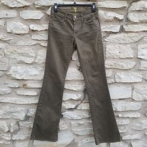 7FAM Olive Low Rise Boot Cut Jeans 25